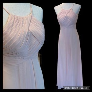 """Azazie """"Ginger"""" Gown """"Coral"""" Pale Pink Sz 2"""